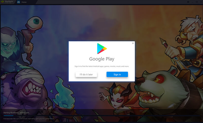 sign in with your google id to download idle heroes